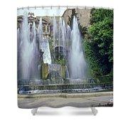 Tivoli Garden Fountain Shower Curtain