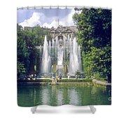 Tivoli Garden Fountain Reflection Shower Curtain