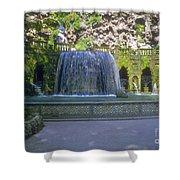 Tivoli Gardens Fountain And Pool Shower Curtain