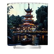 Tivoli Pagoda 4 Shower Curtain