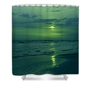 To Green To Be Blue Shower Curtain