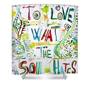 To Love What The Soul Hates Shower Curtain