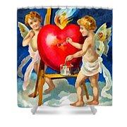 To My Valentine Shower Curtain