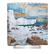 To Rough For Fishing Shower Curtain