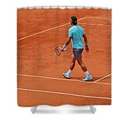 Rafael Nadal To The Baseline Shower Curtain