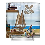 To The Beach Shower Curtain