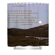 To The Full Moon Shower Curtain