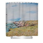 To The Lighthouse  Tribute To Virginia Woolf Shower Curtain by Asha Carolyn Young