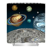 To The Moon And Beyond Shower Curtain