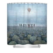 To The Mountains Of The Moon Shower Curtain