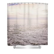 To The Ocean White With Foam Shower Curtain