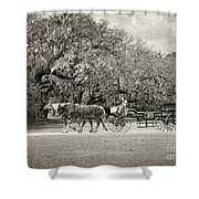To The Stables Shower Curtain