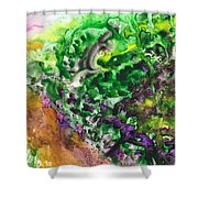 To The Unknown Abstract Path Number Four Shower Curtain
