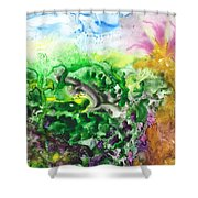 To The Unknown Abstract Path Number Six Shower Curtain