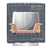 Toastmaster- Coral Shower Curtain