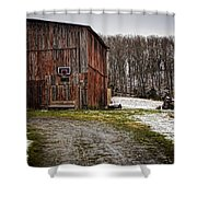 Tobacco Barn Shower Curtain