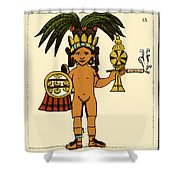 Tobacco In Aztec Ritual, Florentine Shower Curtain by Science Source