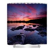 Tobermory Sunset 2 Shower Curtain