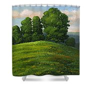 Toboggan Hill Shower Curtain