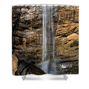 Toccoa Falls With Rainbow Shower Curtain