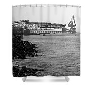 Port Of Tocopilla Chile Shower Curtain