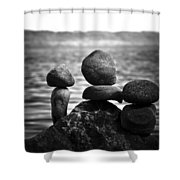 Together Alone Shower Curtain