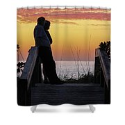 Together At Sunset  Shower Curtain