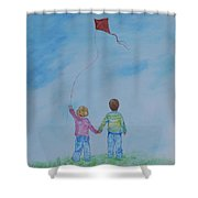 Together Flying Shower Curtain