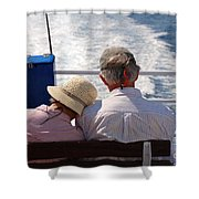 Together In Greece Shower Curtain