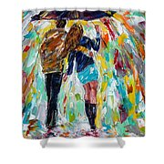Together In The Rain  Shower Curtain
