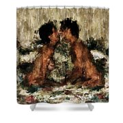 Together Shower Curtain by Kurt Van Wagner