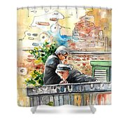 Together Old In Italy 01 Shower Curtain