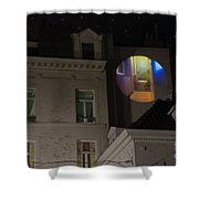 Toilet In Technicolor Shower Curtain by Juli Scalzi