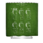 Toilet Paper Roll Patent From 1891 - Green Shower Curtain