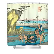 Tokaido - Okitsu Shower Curtain