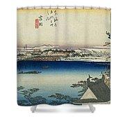Tokaido - Yoshida Shower Curtain