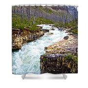Tokuum Creek Flowing Into Marble Canyon In Kootenay Np-bc Shower Curtain