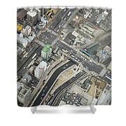Tokyo Intersection Shower Curtain