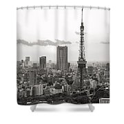 Tokyo Tower And The Zozo-ji Temple Shower Curtain