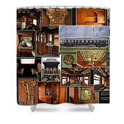 Toledo Peoria Western Pullman Rr Car Collage Shower Curtain