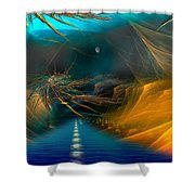 Toll Road Shower Curtain