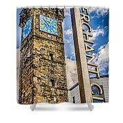 Tollbooth Clock Tower Glasgow Shower Curtain