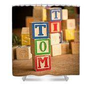 Tom - Alphabet Blocks Shower Curtain