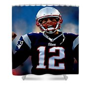 Tom Brady Back To The Super Bowl Shower Curtain