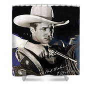Tom Mix Portrait Melbourne Spurr Hollywood California C.1925-2013 Shower Curtain