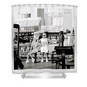 Tom Platz At Venice Beach Shower Curtain