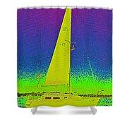 Tom Ray's Sailboat Shower Curtain