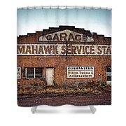 Tomahawk Garage Shower Curtain