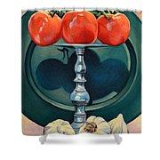 Tomato And Garlic Shower Curtain