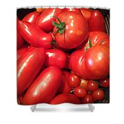 Tomato Harvest Shower Curtain